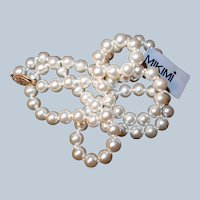 Last Chance SALE Worlds Finest Spanish Simulated Pearls Necklace with Original Box
