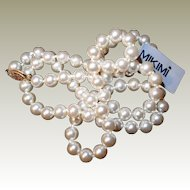 Worlds Finest Spanish Simulated Pearl Necklace with Original Box