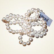 Worlds Finest Spanish Simulated Pearls Necklace with Original Box