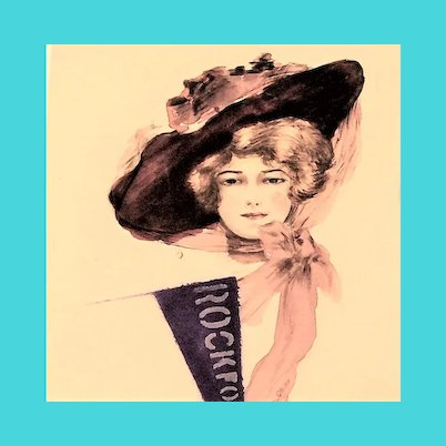 Linen Hand-painted Glamour Lady Sports Postcard