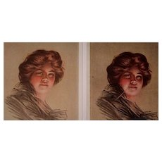 "P. Boileau Postcards of ""Peggy"" set of two, unposted"