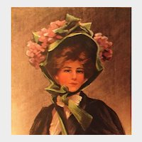 "Glamour Lady Postcard by Boileau entitled ""Yesterday!"", unposted"