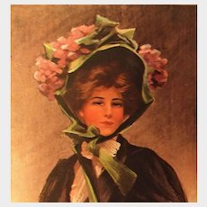 """Glamour Lady Postcard by Boileau entitled """"Yesterday!"""", unposted"""