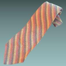 Pale Striped Textured Necktie by Wembley