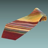 Wide Silk Striped Necktie Tailor Made