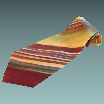 Wide Silk Striped Necktie Tailor Made