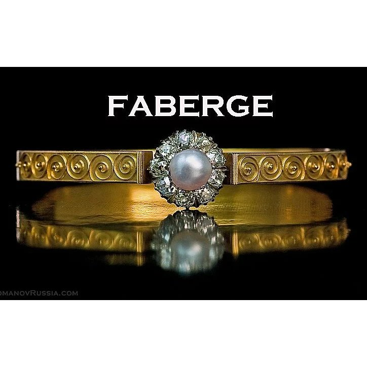 Faberge antique etruscan revival natural pearl diamond 14k for Best place to sell gold jewelry in chicago