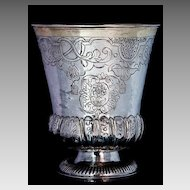 Antique Russian Silver Beaker 1736