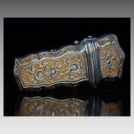 Antique 18th Century Etui Russian Tula Gilded Steel Case c. 1750