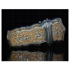 Antique 18th Century Etui Russian Tula Gilded Steel Case c. 1750