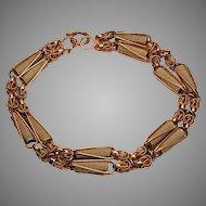 Retro Russian Two Color 14K Gold Bracelet