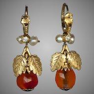 Georgian Amber Earrings c. 1780