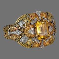 Unique Art Nouveau Bangle Bracelet