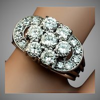 Art Deco Diamond Cluster Vintage Engagement Ring