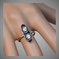 Antique Edwardian Two Diamond Engagement Ring