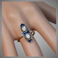 Antique Edwardian Two Diamond Engagement Ring