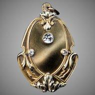 Art Nouveau Antique Diamond 14K Gold Locket