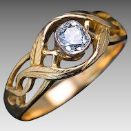 Antique Polish - Russian Diamond Solitaire Men's Ring