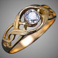 Antique Polish - Russian Diamond Solitaire Men's Ring