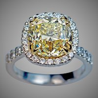 Impressive 5 Carat Diamond Engagement Ring