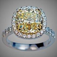 Impressive 5 Carat Diamond Engagement Ring