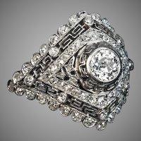 Art Deco Diamond Platinum Vintage Engagement Ring