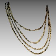 Antique Russian Gold Twisted Chain Link Necklace
