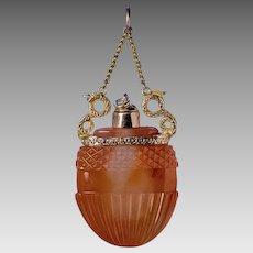 Napoleonic Era Antique Georgian Carnelian 18k Gold Perfume Bottle Pendant Necklace