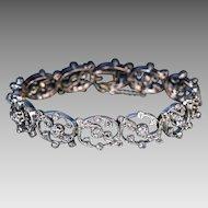 Belle Epoque Antique French Diamond Link Bracelet
