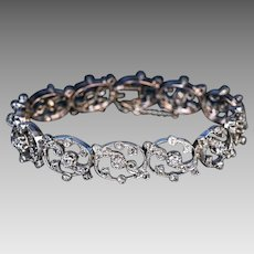 Belle Epoque Antique French Diamond Link Bracelet