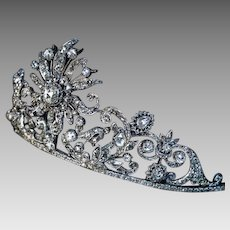 Very Rare Napoleonic Era Antique Diamond Diadem Tiara