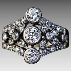 Belle Epoque Antique Diamond Openwork Engagement Ring