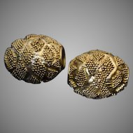 Pair of Large Ancient Hellenistic Greek Gold Beads c. 300 BC