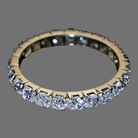 Antique French 2.30 Ct Old Cut Diamond Eternity Ring