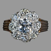 Antique 4.82 Ct Old Mine Cut Diamond Engagement Ring