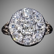 Antique 3.28 Ct Old Mine Cut Diamond Engagement Ring
