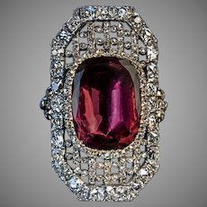 Early 19th Century Antique Garnet Diamond Openwork Ring