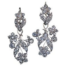 19th Century Antique Day To Night Diamond Earrings