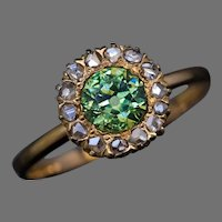 Antique Russian Demantoid Rose Cut Diamond Ring Ref: 110465