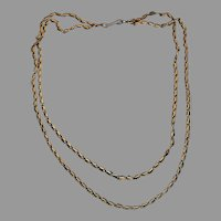 Antique Russian Double Strand Chain Necklace Ref: 110543