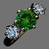 Rare 1.90 Ct Russian Demantoid Diamond Ring