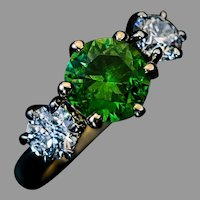 Rare 1.90 Ct Russian Demantoid Diamond Ring