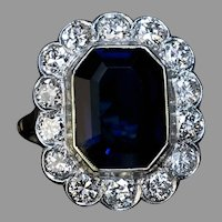 Vintage Sapphire Diamond Engagement Ring Ref: 440856