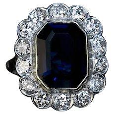 Vintage Sapphire Diamond Engagement Ring Ref: 440856