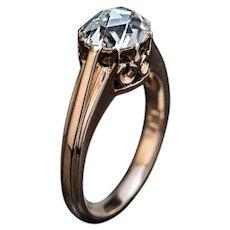 Antique 1.14 Ct Rose Cut Diamond Engagement Ring