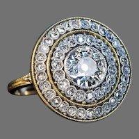 Belle Epoque Antique Diamond Engagement Ring