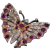 Antique Victorian Ruby Diamond Butterfly Brooch