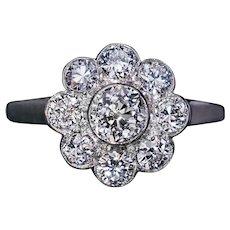 Vintage Diamond White Gold Engagement Ring
