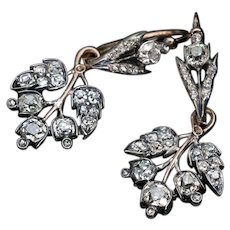 Antique 19th Century Day To Night Diamond Earrings
