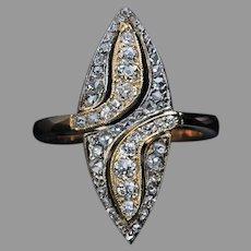 Antique Marquise Shape Diamond Ring
